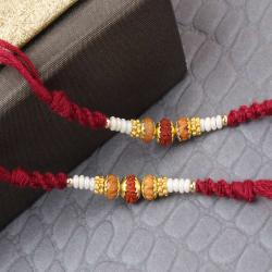 Set of Two Premium Rudraksha Rakhi