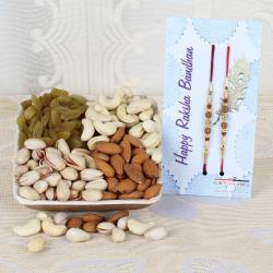Set of Two Rakhi with Dry Fruits