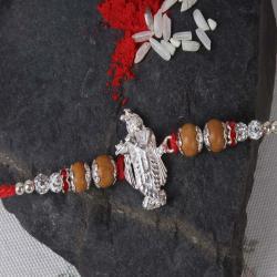 Shree Krishna Designer Silver Rakhi