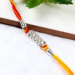 Silver effect Diamond Rakhi