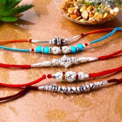 Silver Stunning Rakhi Combo