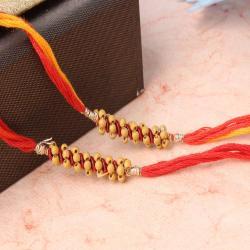 Striking Two Tiny Beads Rakhi