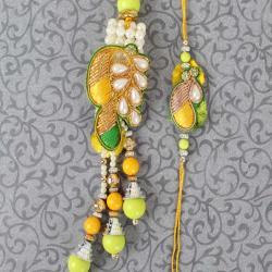 Stylish Embroidery Bhaiya Bhabhi Rakhi