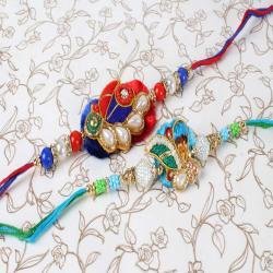 Stylish Pack of Two Rakhi Set