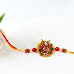 Swastik Kalash Floral Rakhi