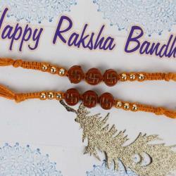 Swastika Rakhi Two Threads