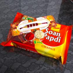 Sweet Soan Papdi and Rakhi