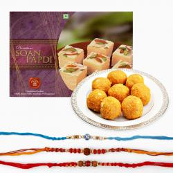Sweets and Rakhi Combo