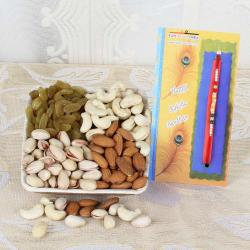 Thread Rakhi and Assorted Dry Fruits