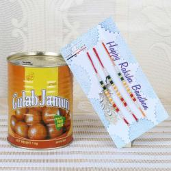 Three Rakhi and Sweets