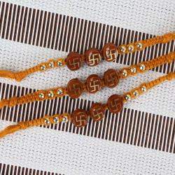 Three Rakhi Threads with Swastika