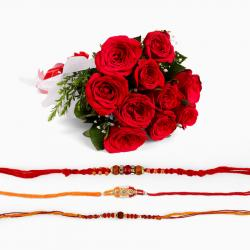 Three Rakhi with Roses