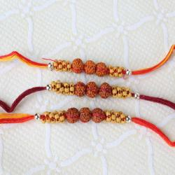 Three Rudraksha Rakhi for Bother