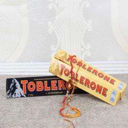 Toblerone Chocolate Bars with Pair of Rakhis
