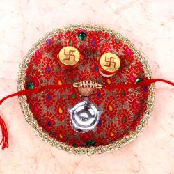 Traditional Rakhi Thali with Elegant Rakhi