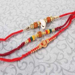 Traditional Set of Three Rakhi