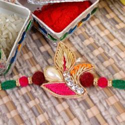 Traditional Zardosi Rakhi