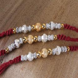 Trio Shiny Rakhis Combo for Brother