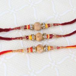 Triple Sandalwood Thread Rakhi