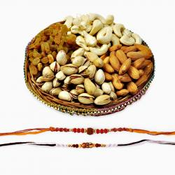 Two Auspicious Rakhis with Dryfruits
