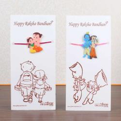Two Cartoon Characters Rakhi for Kids - Canada