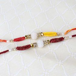 Two Rakhi of Colorful Small Beads