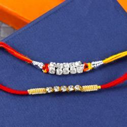 Set of Two Diamond Rakhis