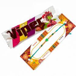 Viper Chocolate Bar with Stone Rakhi