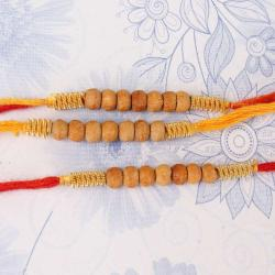 Wooden Color Beads Set of 3 Rakhis