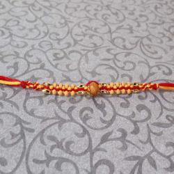 Wooden Striking Beads Rakhi