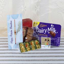 Yummy Sweets and Chocolate Rakhi Hamper