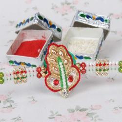 Zardosi Pearl Designer Rakhi